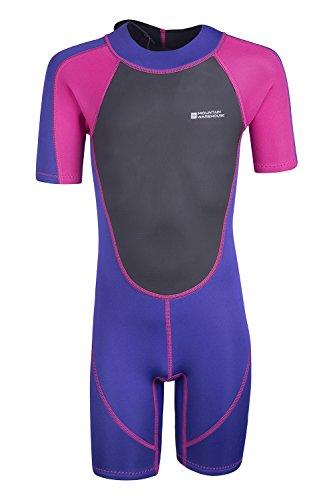 Mountain Warehouse Kinder Shorty Neoprenanzug Schwimmanzug Schwimm Bade Surf Wasser Strand Wassersport Urlaub Tauchen Schnorcheln leuchtendes Pink 164 (13 Jahre)