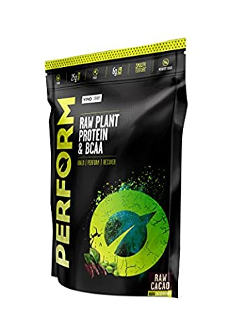 Vivo Life PERFORM - Raw Vegan Cacao Protein Powder | Pea & Hemp Protein Blend with BCAA | Organic Ingredients | Gluten & Soy Free Protein Shake (910 gram) - Cacao Ricco