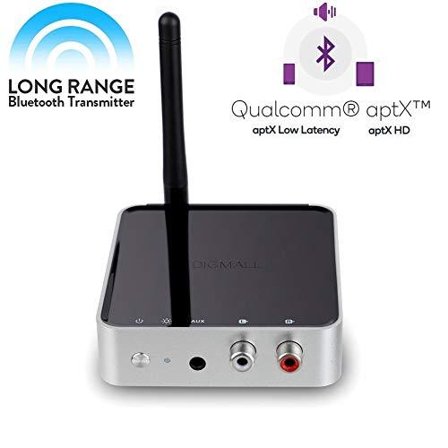 DIGMALL de Largo Alcance 328pies Bluetooth v 5.0 transmisor de Audio Receptor...