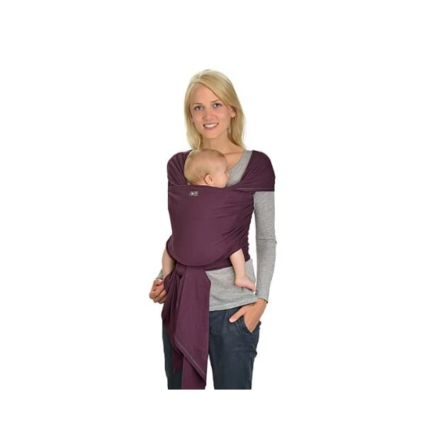 Hoppediz 4.60 m Elastic Newborn and Premature Baby Sling GOTS (Aubergine) Hoppediz For newborn and premature babies 100% cotton (GOTS) Soft grip and comfortable elasticity 1