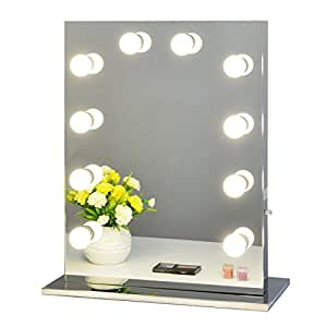 hollywood miroir de maquillage avec lumi re r glable pour. Black Bedroom Furniture Sets. Home Design Ideas