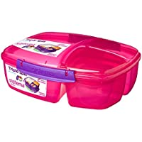 Sistema Lunch Triple Split Lunchbox mit Joghurttopf - 2 L, Rosa