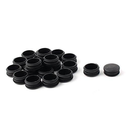 Tube en plastique ronde dealMux ajouter Zone Morte films de protection Caps 34 mm 20 pièces noir