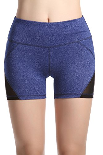 lotus-instyle-compression-tight-yoga-shorts-for-girls-with-side-mesh-pannel-blue-m