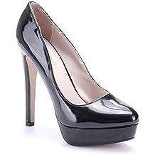 00473e7b87a897 Schuhtempel24 Damen Schuhe Plateau Pumps Stiletto 13 cm High Heels