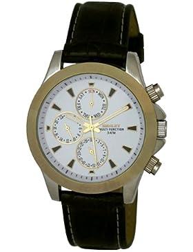 Henley Herren-Armbanduhr Henley Mens 3ATM Multi Function Watch and Presentation Gift Box. Analog Plastik Schwarz...