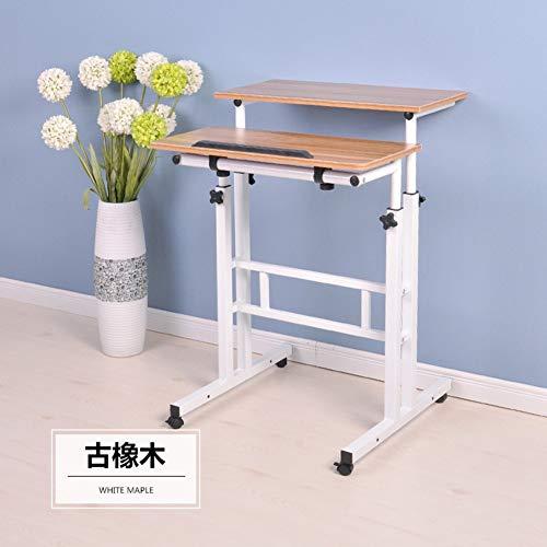 XNADESK Bewegliche Ständigen Schreibtisch, Höhenverstellbarer Laptop Computer Arbeitsplatz Mit Rolling Präsentation Wagen Home Arbeitstisch-b Basic (Ergonomische Computer-cart)