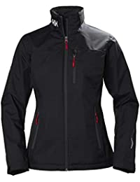 Helly Hansen W Crew Midlayer Jacket Chaqueta Impermeable, Mujer, Black, M