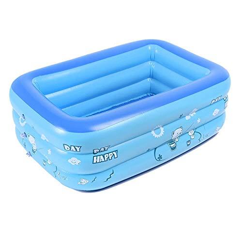 KFRSQ Planschbecken PVC Swimmingpool Kinderspielpool Quadrat aufblasbare Pool Schwimmen Versorgungen gelegentlich