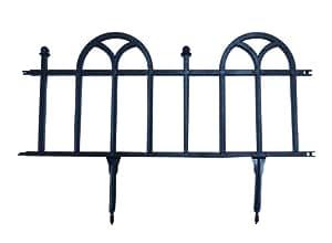 Centroflor - Bordures de jardin set 4 pièces ART DECO NOIR