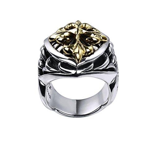Rock&Ride Kruzifix Ringe 925 Sterling Silber Handarbeit Altes Handwerk Ringe