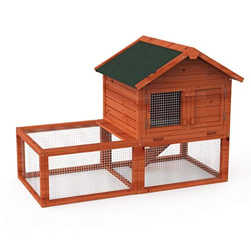 Friday discount Hühnerstall/Hühnerstall aus Holz, mit Asphaltdach und Rampe, geeignet für kleine Tiere, 140 cm, Braun