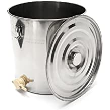 Rishil World 50kg Honey Tank Food Grade Stainless Steel Storage Drum With Handle Lock Lid