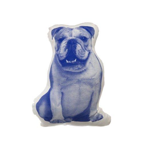 Kissen Fauna mini Engl. Bulldoge blau