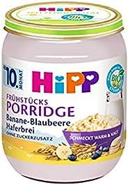 Fruehstuecksporridge Banane-Blaubee