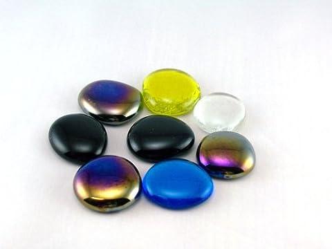 Lot de pierres décoratives muggelsteine grand, différentes couleurs, paquet de 200 g