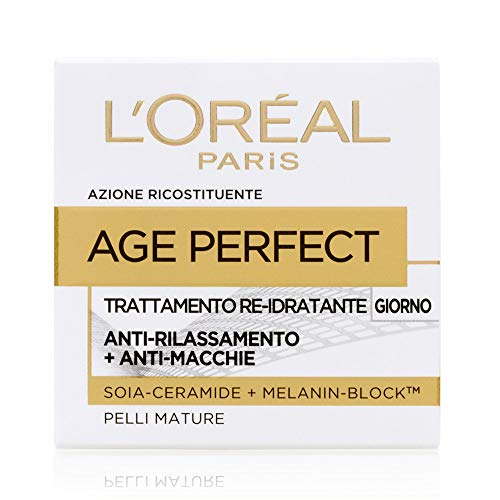 L'oréal paris age perfect crema viso antirughe idratante giorno, pelli mature, anti-macchie, 50 ml