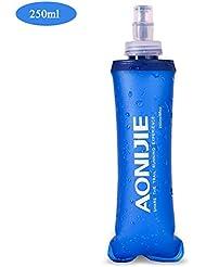 Geila Hidratación ligero plegable libre de BPA botella de agua del bolso suave Frasco para el Deporte Running Senderismo (250ML)