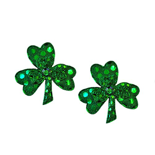 Sequin Shamrock Hair Clips (2 Per Pack)