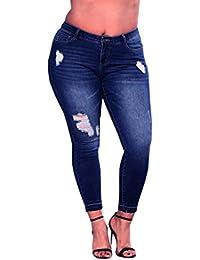 45cdf42073 CICIYONER Pantalones de Cintura Alta con Cintura elástica y Pantalones  Vaqueros Ajustados