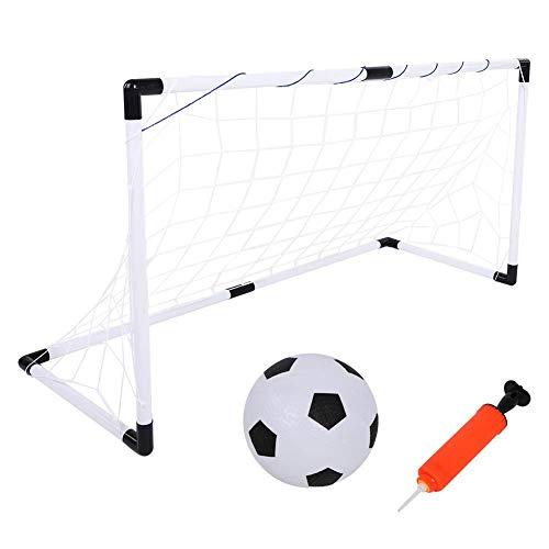 ltor Set, Mini Faltbar Fußball Set Minitore Spielzeug mit Netz, Ball und Ballpumpe, Kinder Fußball-Tor Training Spielzeug für Outdoor Garten Strand Spielplatz Hinterhof Camping ()