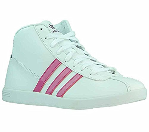 adidas X73718 - Zapatillas para mujer Blanco White with Pink elements, Weiß, 6.5 UK/8 US/40 EU/25 CM