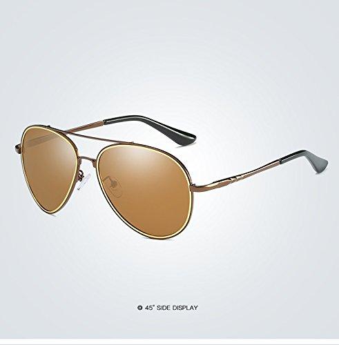 Xinke Aviator Sonnenbrille Damen Polarisierte Spiegel mit Fall-UV 400Schutz 60mm, 4