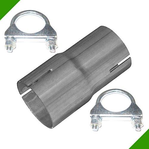 Reduzierstück von 45mm auf 50mm Adapter inkl. 2 Schellen Rohr Verbindungsstück Auspuff Abgasanlage Klemmstück Reduzierverbinder Reduktion Reduzierung Rohrverbinder -