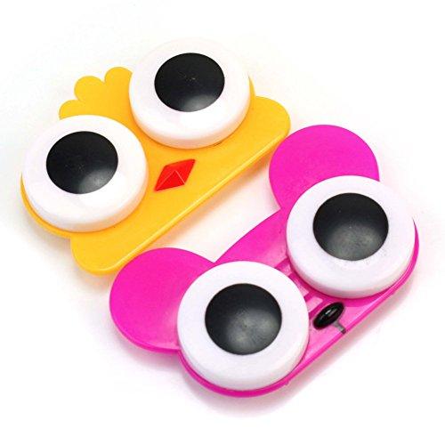 Pinzhi2 Stücke Nette Breiten Augen Stil Tier Muster Kontaktlinsenbehälter Box Halter Zubehör (Kosmetische Farbige Kontaktlinsen)