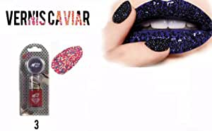 Yes Love : 1 Kit Vernis à Ongles Rouge CAVIAR (perles multicolores) - Kit Nail Art 03