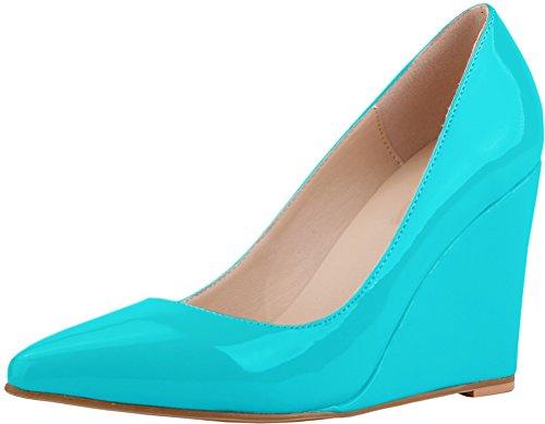 CFP , Sandales Compensées femme Bleu