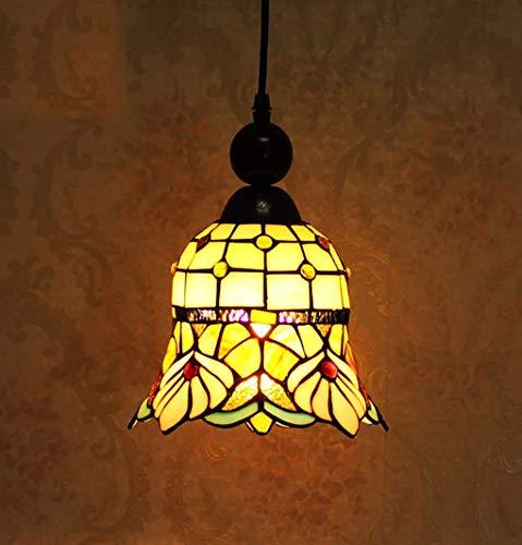 Niedriger Preis Tischlampe Nachttischlampe Kristallleuchter Pendelleuchte Deckenleuchte Wandstrahler Wandleuchten Kronleuchter, 8-Zoll-Europäischen Retro-Glasmalerei Pendelleuchte, Art-Deco-Pendelleu