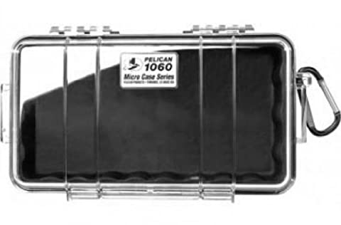 Pelican 1060 Micro Dry Case /Snorkelers/Kayakers - Black w/ clear lid