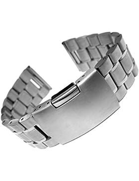 22mm Festes Edelstahl Uhrenarmband Band Silber