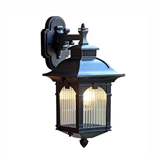Best wishes shop Lampada da parete- Lampada da parete esterna in alluminio impermeabile LED da giardino Lampade da balcone Corridoio scale Lampada da parete per terrazzi E27