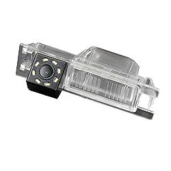 Rückfahrkamera Wasserdicht Rückansicht Kamera Einparkhilfe Rückfahrsystem für OPEL Astra H/Corsa D/Meriva A/Vectra C/Zafira B,FIAT Grande Punto Meriva Alfa Romeo Stelvio Brera Spider