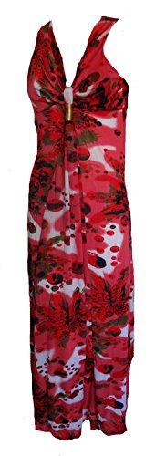 Funky Maxi robe longue Maxi robe d'été décontractée Rouge - Rouge