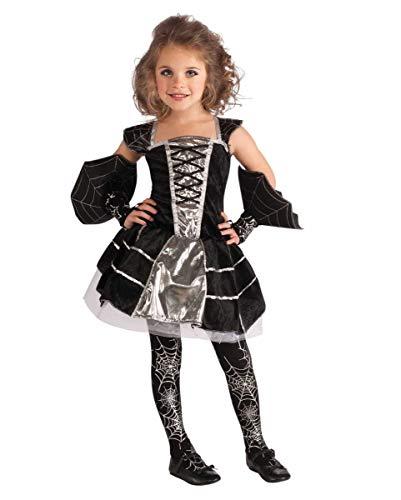 Kinder Spiderella'kostüm - Horror-Shop Spiderella Spinnenprinzesin Halloween Kostüm für Mädchen M
