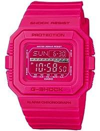CASIO G-SHOCK GLS-5500MM-4ER - Reloj de cuarzo con correa de resina para hombre, color rosa