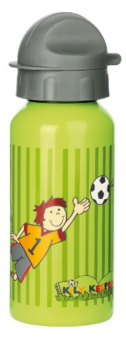 Sigikid Jungen, Trinkflasche mit Drehverschluss 0,4 l, Fußballer Kily Keeper, Grün, 23795