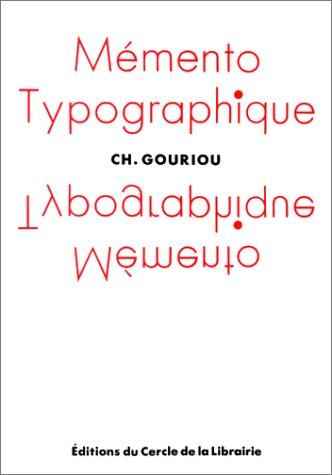 Mémento typographique par C Gouriou