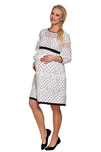 My Tummy Mutterschafts Kleid Umstands Kleid Amelia mit Spitze Polka Dot Elegant Hochzeit