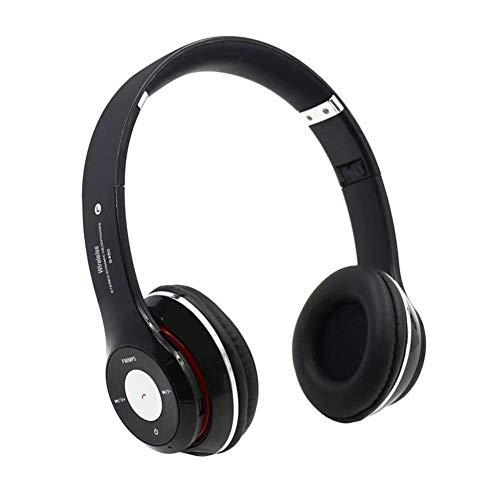 Écouteurs S460 Pliable sans Fil Bluetooth 4 0 Casque Sport Stereo Écouteur FM Radio Casque De Jeu avec Micro pour Pc Mobile Téléphone Mp3 Noir