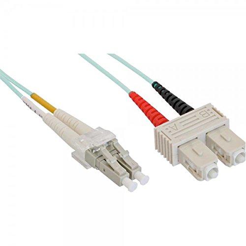 InLine 88641O LWL Duplex Kabel (LC Stecker auf SC Stecker, OM3, 1m)