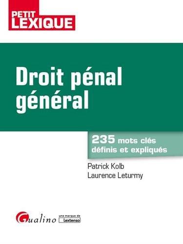 Droit pénal général par From Gualino Editeur
