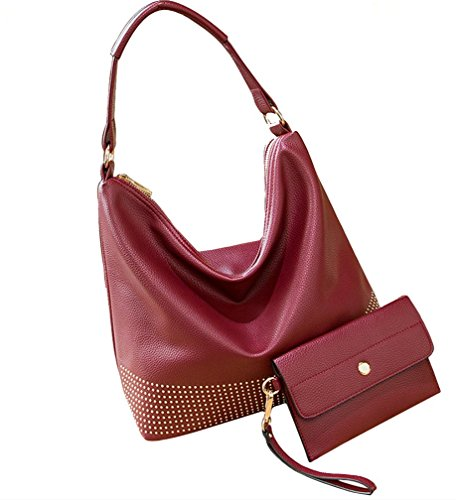 Yiyida, Borsa a mano donna blu Blue Wine Red