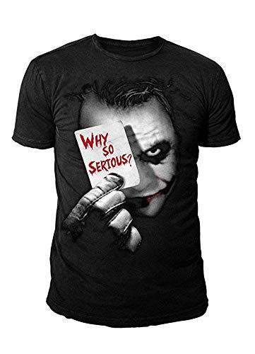 DC Comics - Batman Herren T-Shirt - Joker Why so Serious (Schwarz) (S-XL) (XL) (Batman Arkham City Shirt)