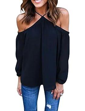 Gladiolus Mujeres Casual Suelto Gasa Camiseta De Gasa De Las Blusas De Las Tapas Sin Tirantes Negro S