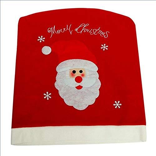 Wansan Weihnachtsmann Rot Hut Stuhl Zurück Abdeckung Weihnachten Xmas Party Tisch Dekoration Weihnachten Party Supplies (Weihnachtsmann)
