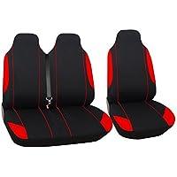 2 x Sitzbezug Sitzbezüge Schonbezüge Einteilig Schwarz Hochwertig Polyester für